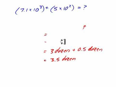 Adding and Subtracting Numbers in Scientific Notation Videos