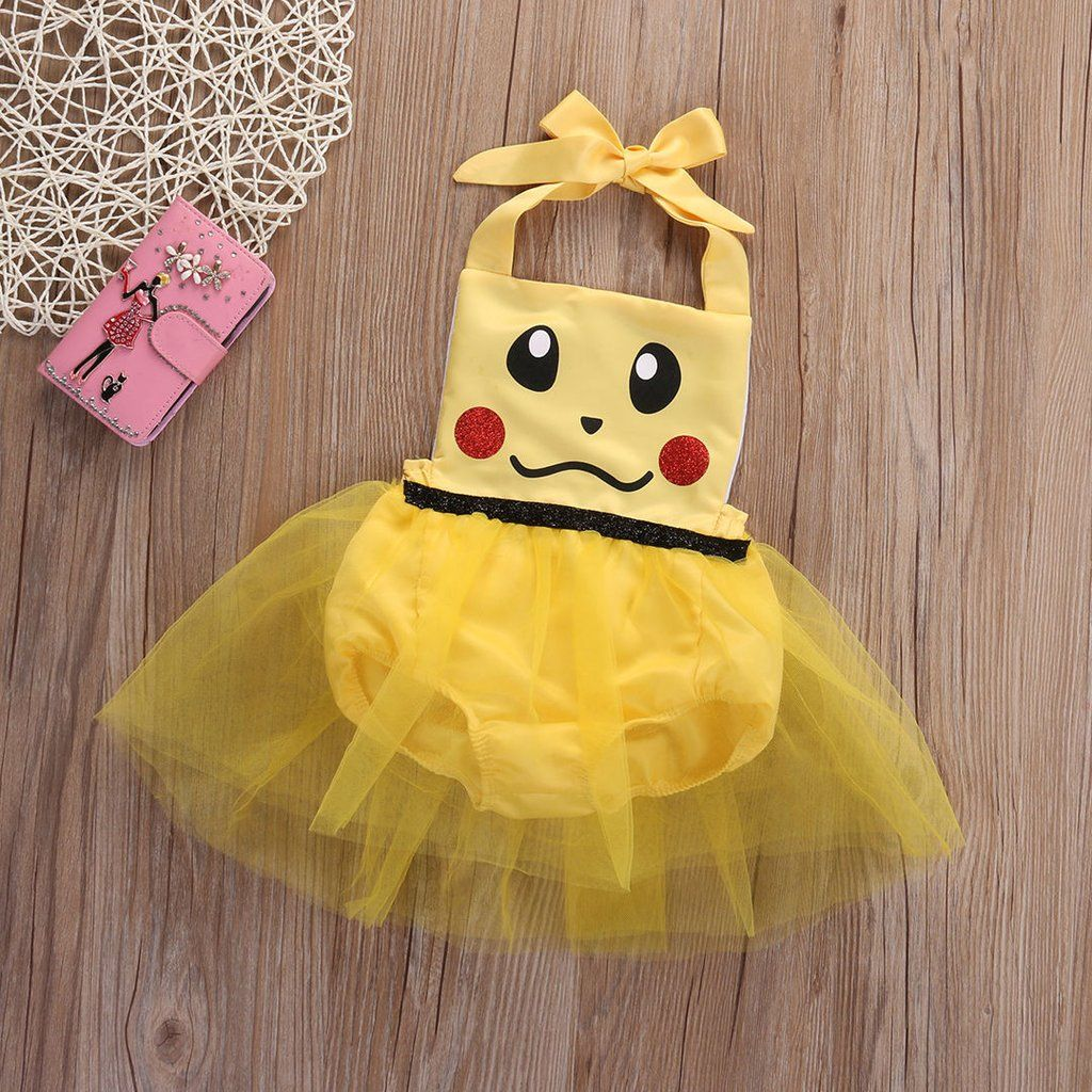 f9510195ad02 Newborn Baby Kids Pokemon Pikachu Hooded Jumpsuit Romper Playsuit Outfit  Clothes Outfits   Sets Clothing
