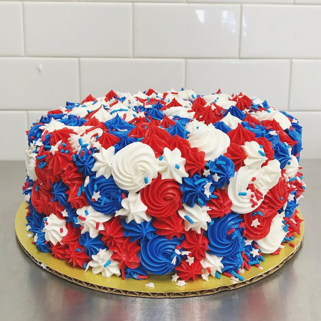 4th Of July 4th Buttercream Cake 4th Of July Desserts Fourth Of