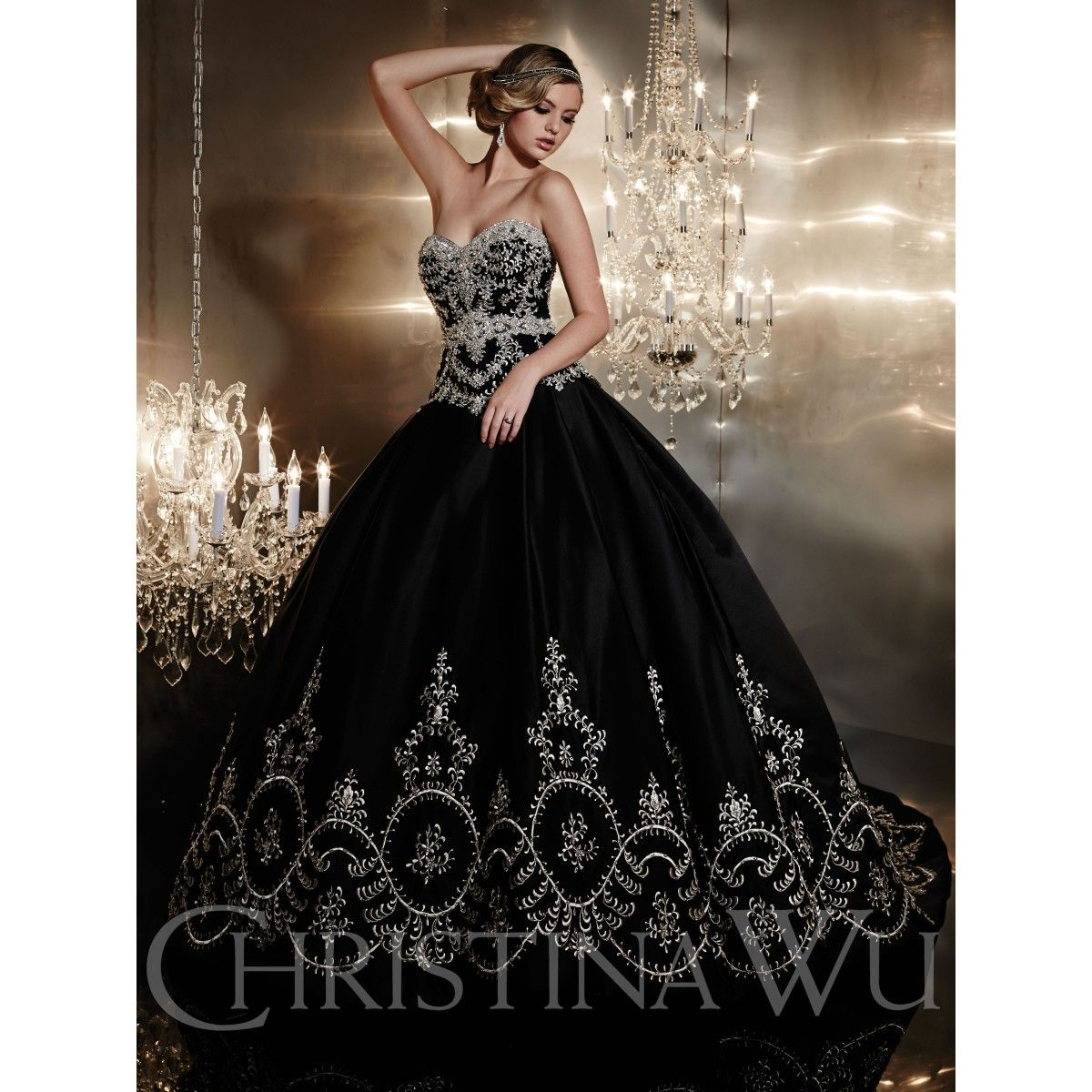 Christina Wu Style 15531 Strapless Heavily Beaded And