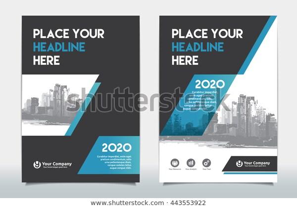 Blue Color Scheme City Background Business Stock Vector