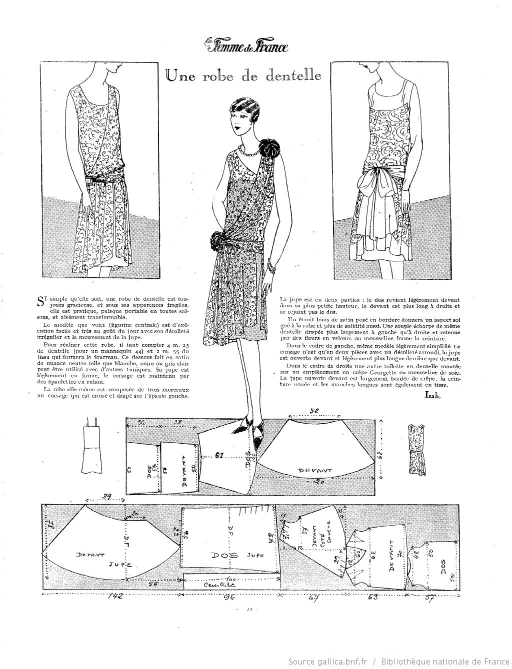 La Femme de France (1925) | 1920s | Pinterest | Patronaje, Patrones ...