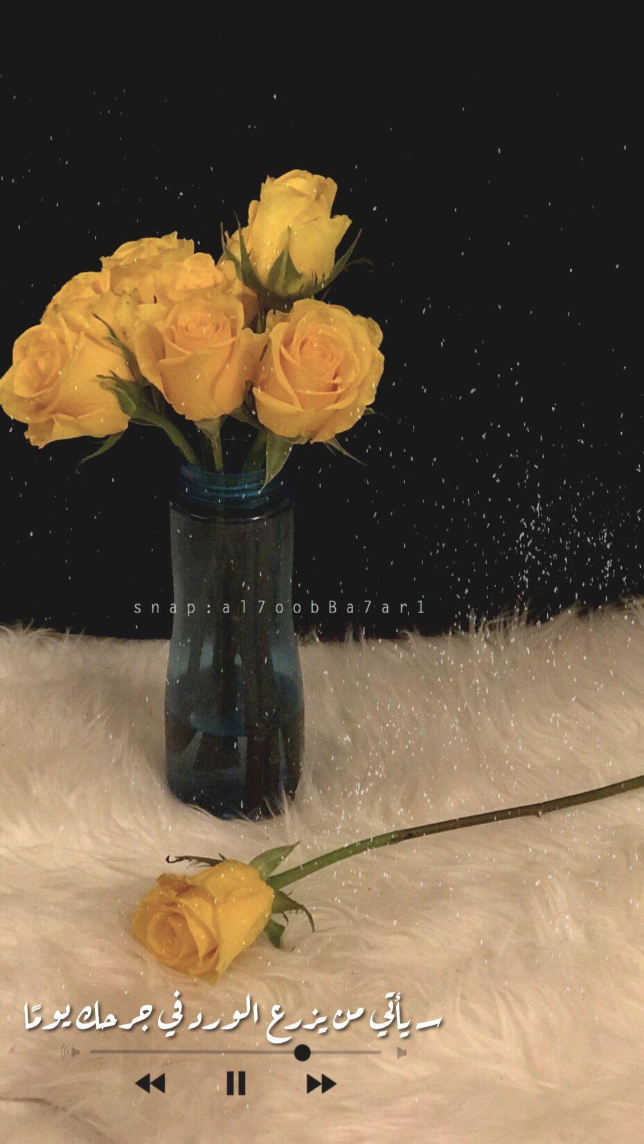 همسة سـ يأتي من يزرع الورد في جرحك يوم ا تصويري تصويري سناب تصميمي تصميم فونتو Phonto ورد Photo Ideas Girl Art Wallpaper Cute Wallpapers
