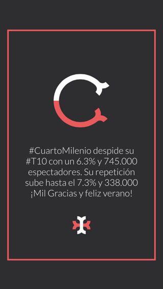 CuartoMilenio despide su #T10 con un 6.3% y 745.000 espectadores. Su ...