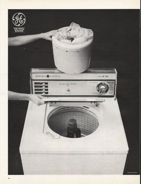 1965 General Electric Washer Vintage Ad The Total Washer Model Wa850b Vintage House General Electric Home Appliances