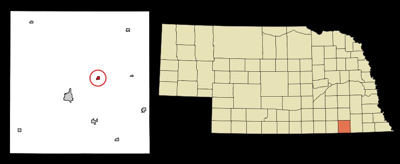Jansen, Nebraska - population 118.  Located in Jefferson County.