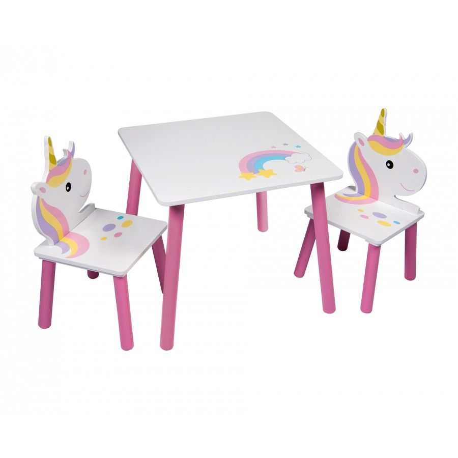 Outstanding Unicorn Table And Two Chairs Set Kids Playroom Furniture Short Links Chair Design For Home Short Linksinfo