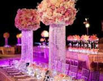 24 Glamorous Whimsical Love Spiral Chandelier Centerpiece Wedding Special Occasion