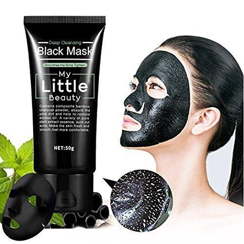 MY LITTLE BEAUTY Black Mask Deep Cleansing Blackhead Remover Purifying Peel Off The Black Head Acne Treatment Black Mud Face Mask Tearing Style