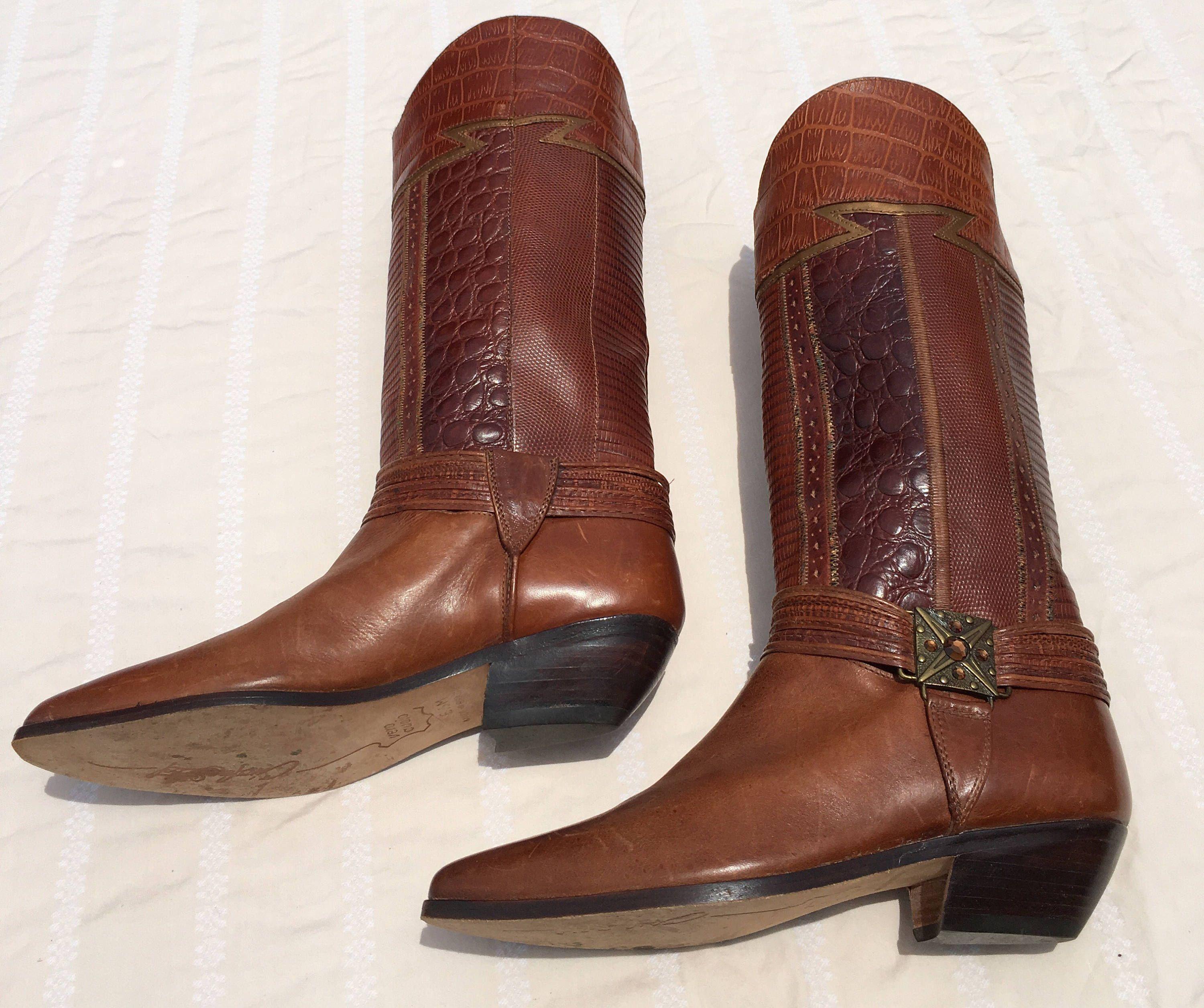 5e77d27ec2e8 Circle S Ltd Iguana Tara Multi women's cowgirl boots , made in Brazil, size  6.5