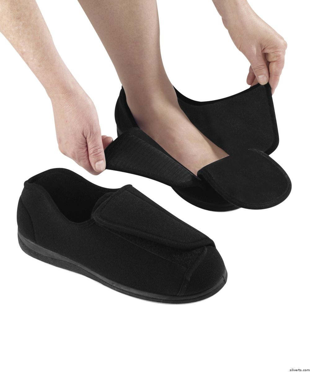 Mens Bedroom Slippers Wide Womens Extra Extra Wide Width Adaptive Slippers Diabetic 4998