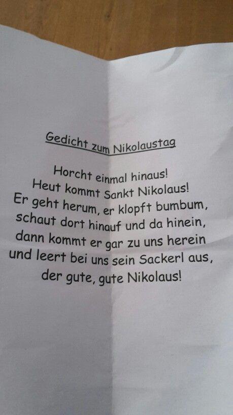 Nikolausgedicht Nikolausgedichte Gedicht Weihnachten