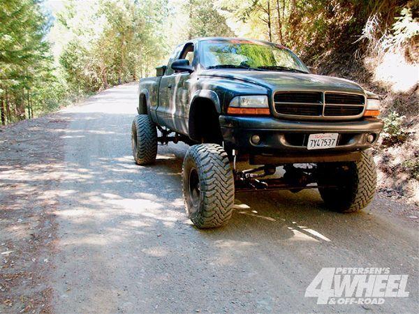2002 Dodge Dakota Tires Wheels 35x13 50 Toyo Mud Terrains On 15x10 Rock Crawlers Suspension Custom 10 Inch Via A Straight Axle Conversion And Rancho
