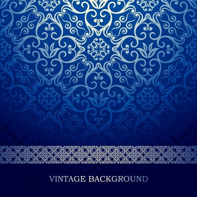 Background Background Blue European Pattern Vector Background Desain Banner Gambar Grafis