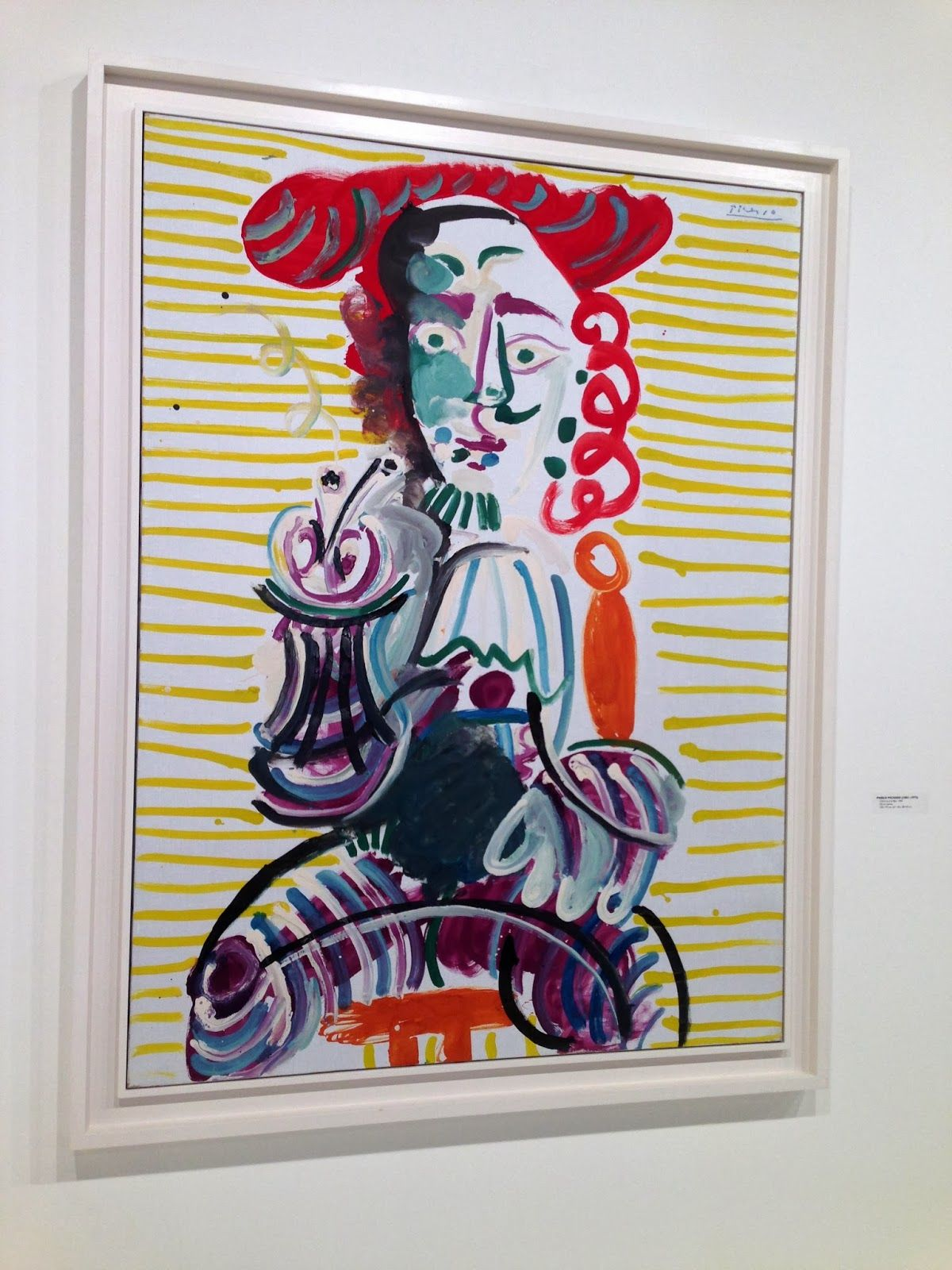 Picasso Float Mount under Plexiglass inside of a Whit Floater Frame ...