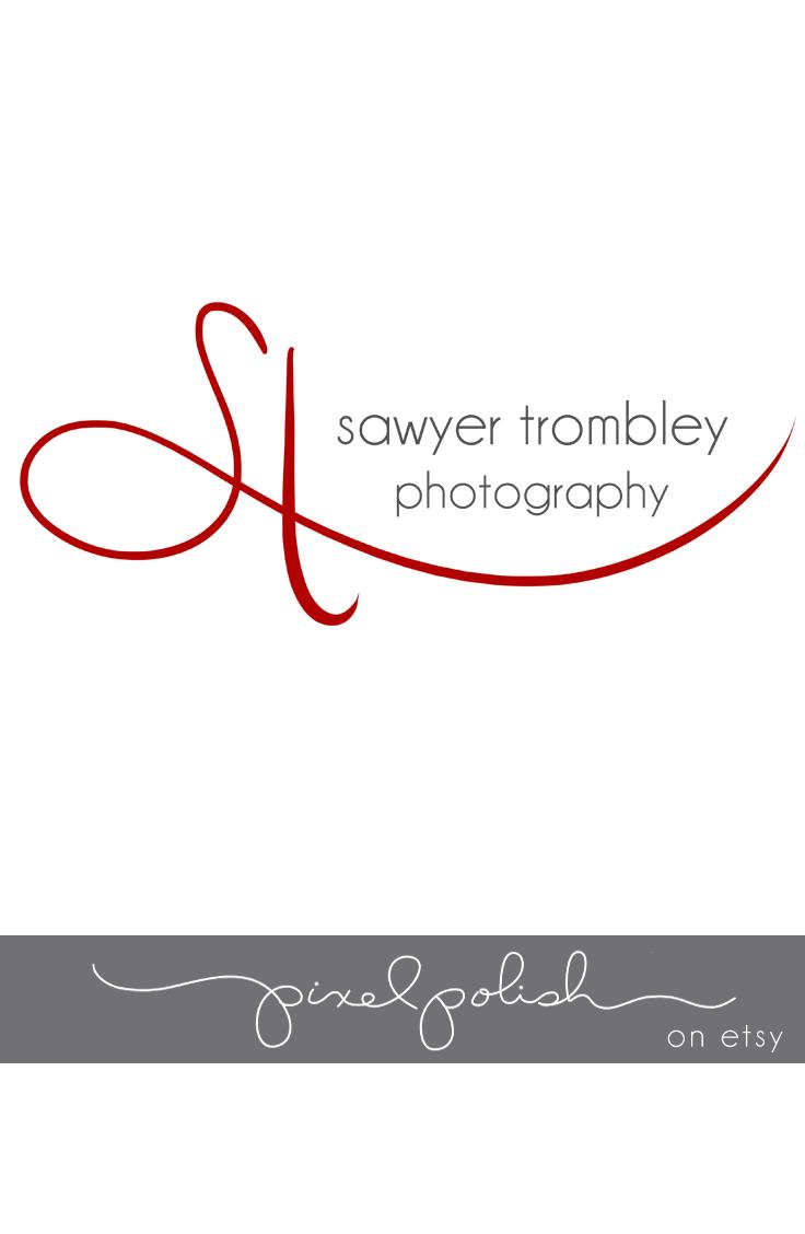 Two initials, handwritten logo.