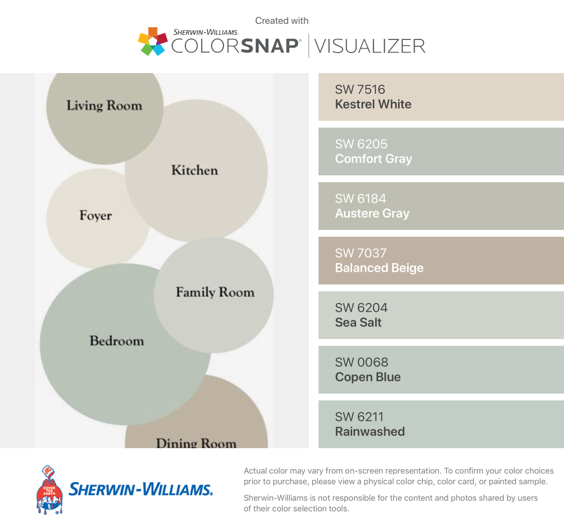 I Found These Colors With Colorsnap Visualizer For Iphone By Sherwin Williams Kestrel White Balanced Beige Balanced Beige Sherwin Williams Beige Color Scheme