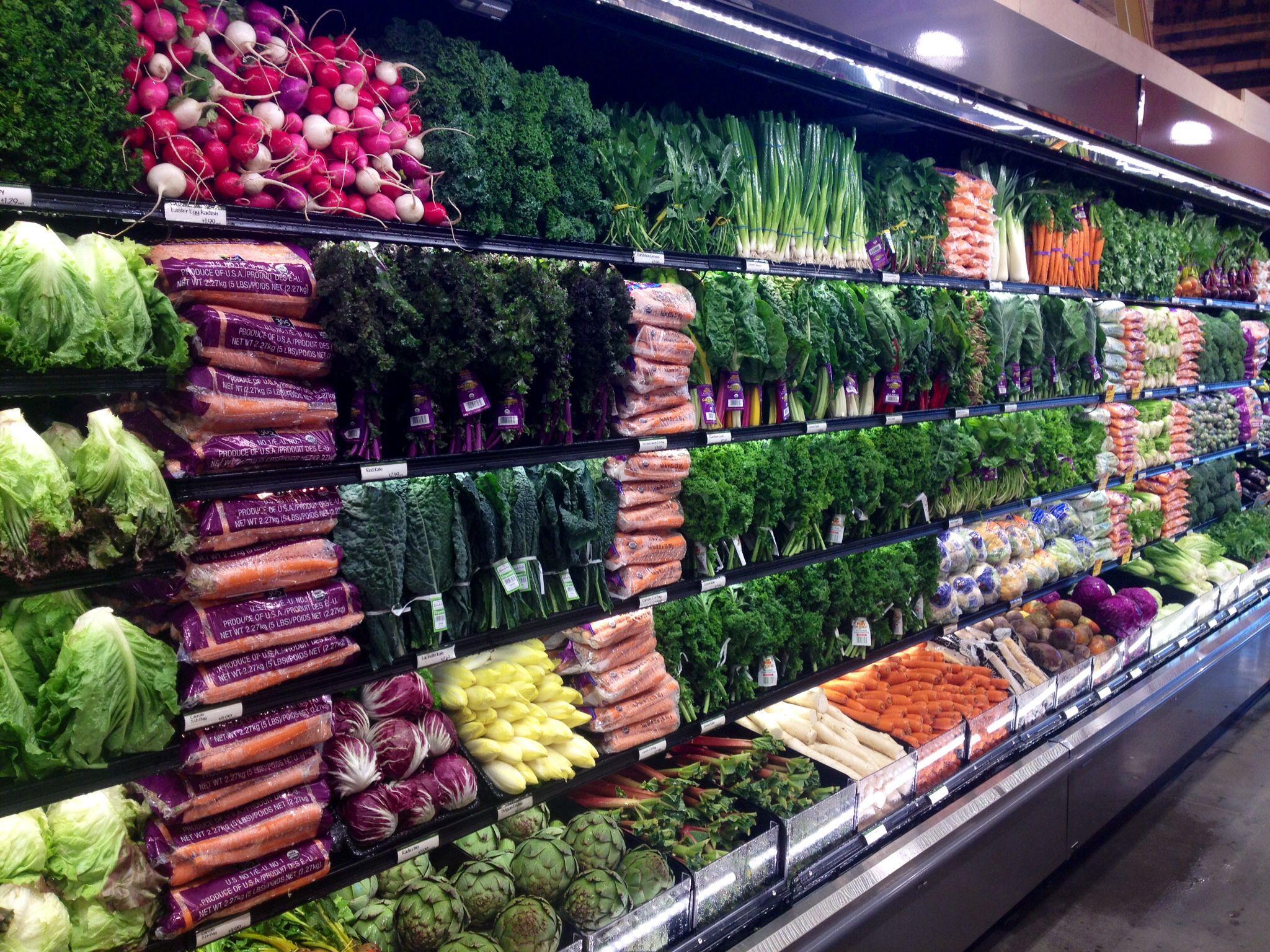Colleyville TX wet rack greens | Produce display