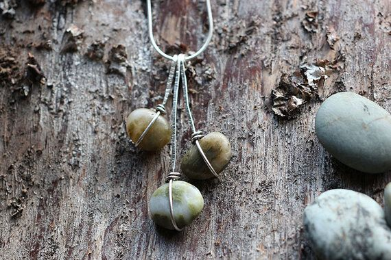 Sterling Silver Wire Wrapped Stone Waterfall