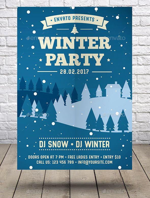 Winter Party Flyer - Events Flyers | Flyer Part 2 | Pinterest