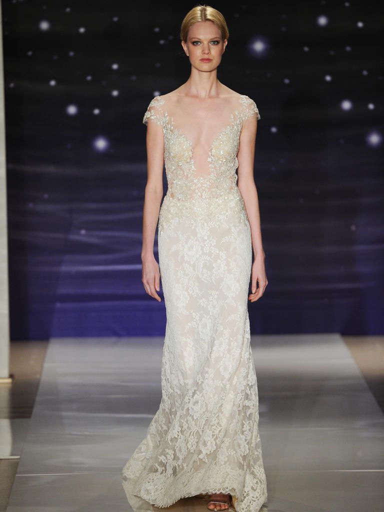Cream dresses for weddings  Top Trends of Bridal Fashion Week  Spring   Be A Bride Blog