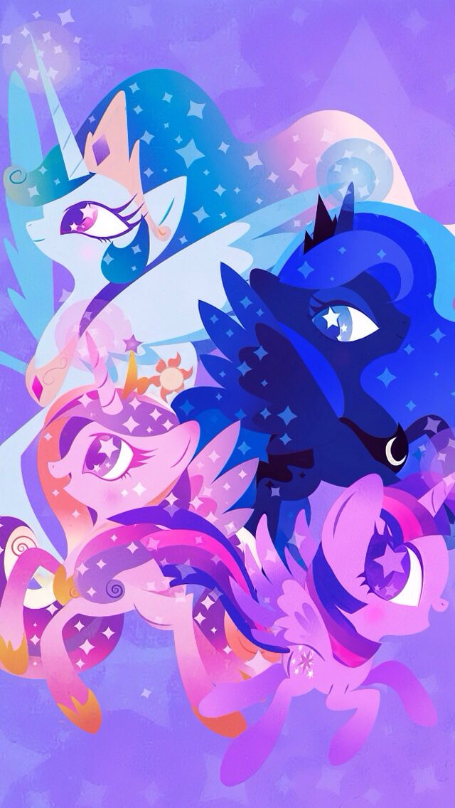 My Little Pony Princess Celestia Luna Cadence And Twilight Mlp