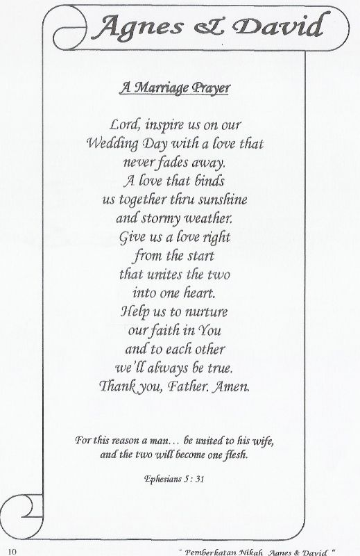Wedding Prayer Google Search Closing Prayer Prayers Wedding Booklet