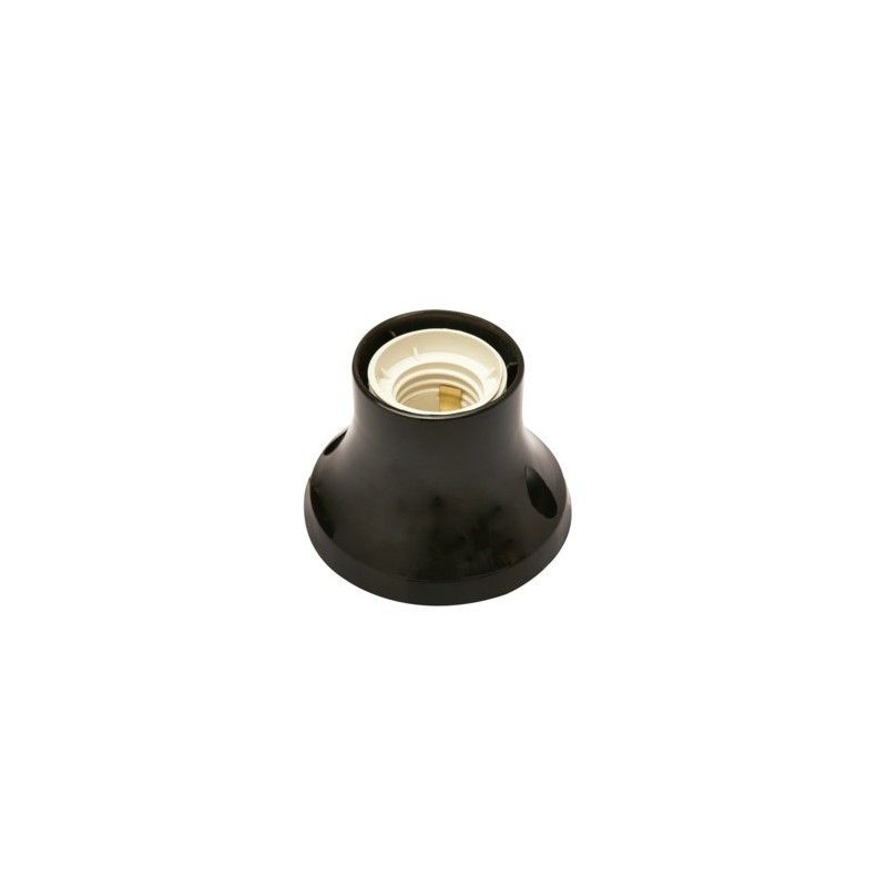 Black straight wall or Ceiling Bulb Lamp Holder