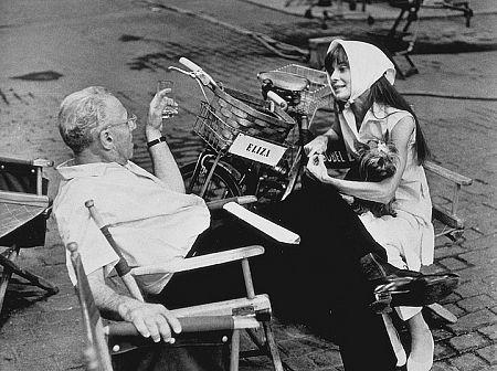 """My Fair Lady"" Audrey Hepburn and director George Cukor"