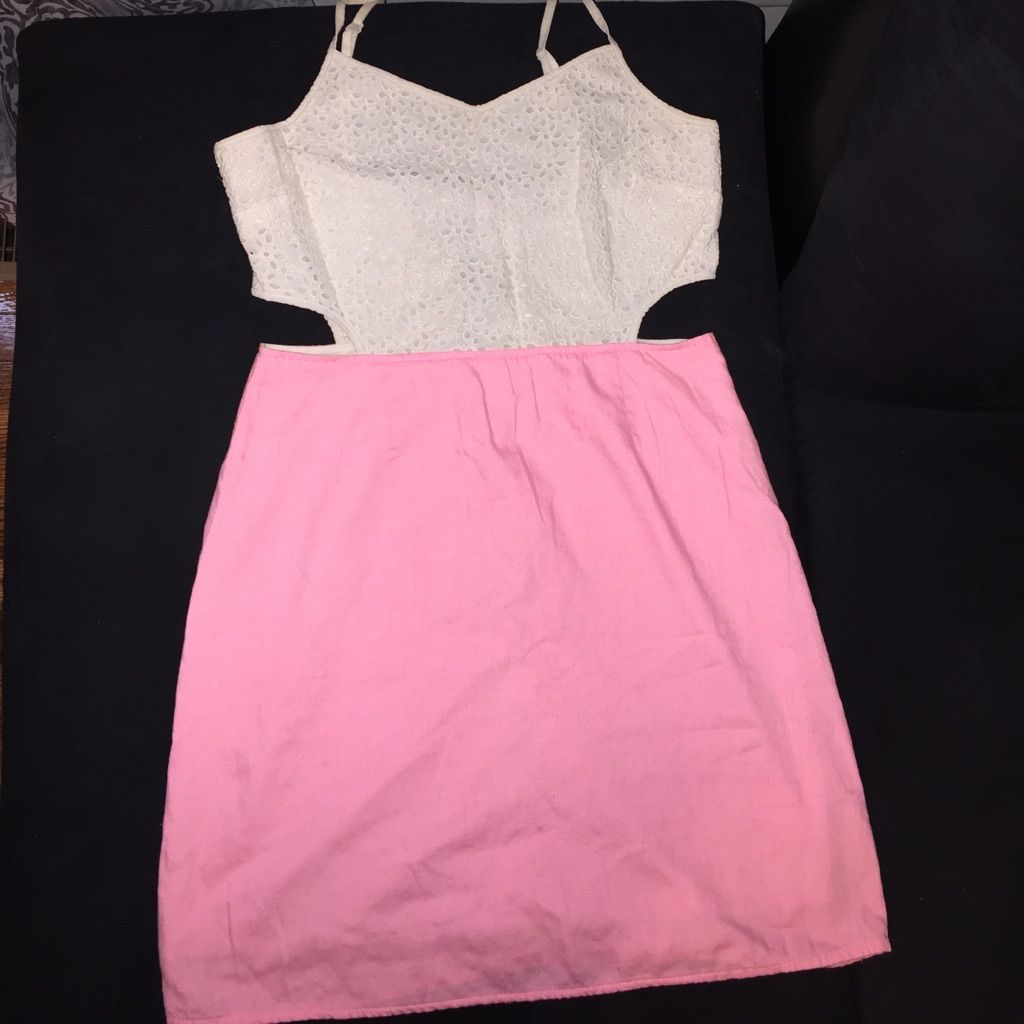 Pink cut out dress  Hot Pink Side Cut Out Dress  Side cuts and Products