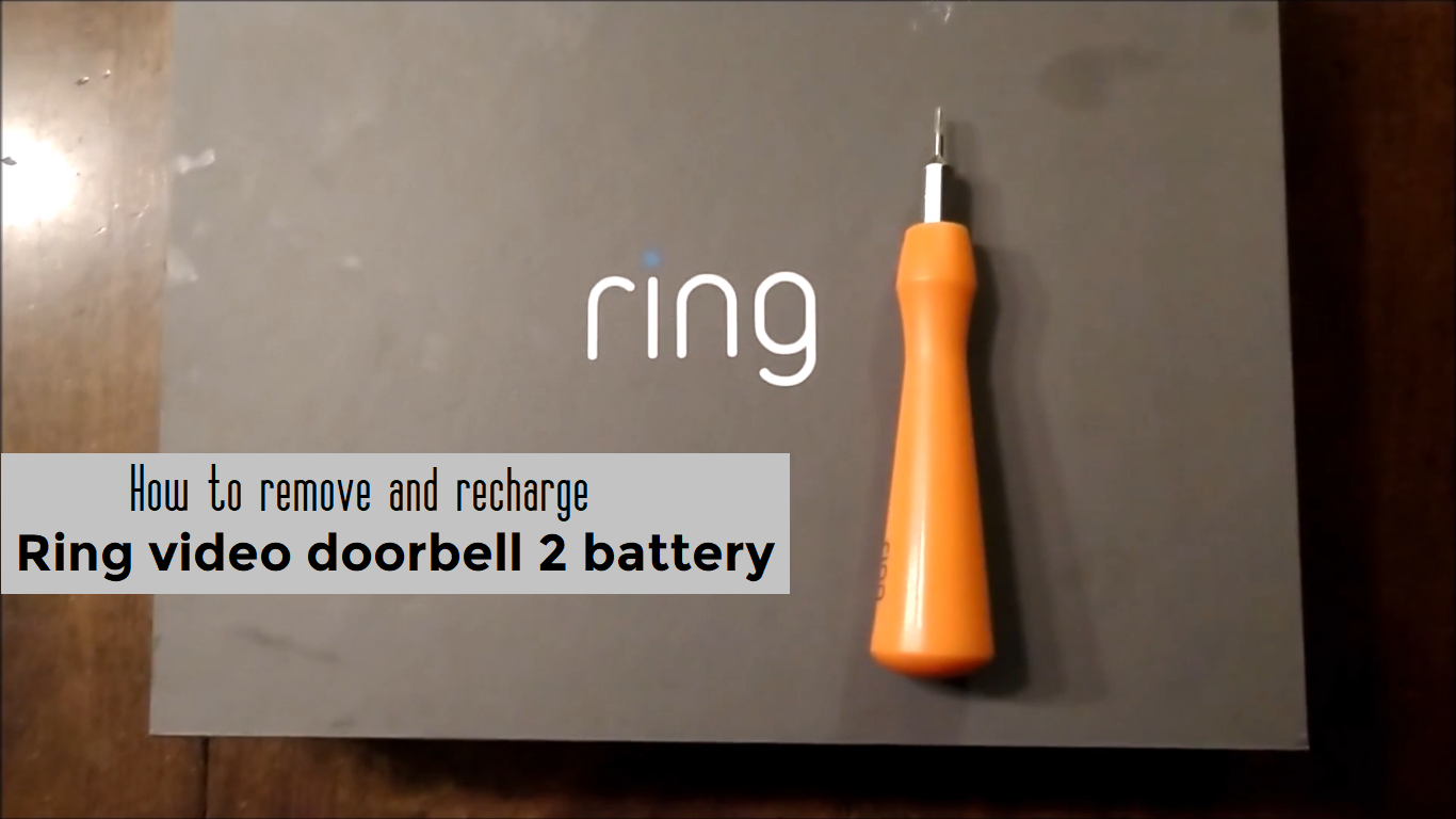 How To Replace And Charge Ring Video Doorbell 2 Battery Diy Ring Video Doorbell Video Doorbell Batteries Diy