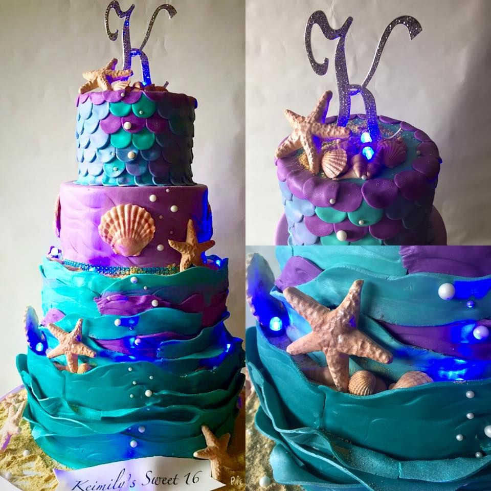Under The Sea Sweet 16 Sweet 16 Cakes Sweet 16 Decorations