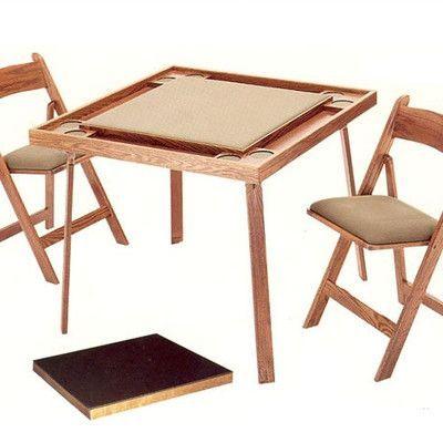 Kestell Furniture Folding Card Table Upholstery Bottle Green Felt Finish Fruitwood Walnut Card Table Set