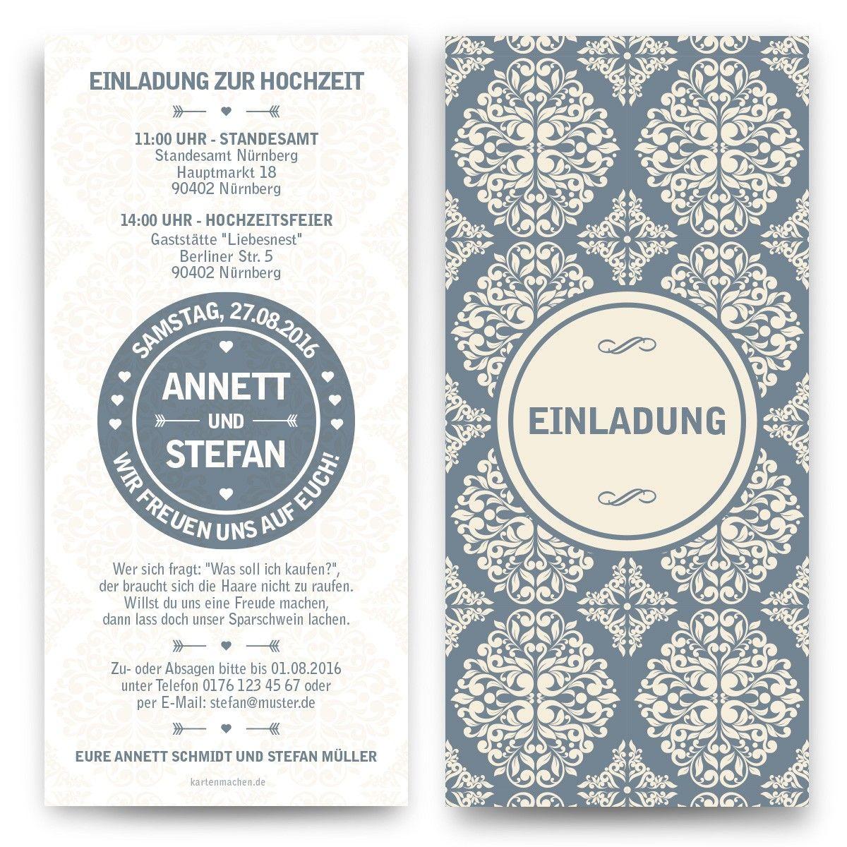 Ornamentale #Hochzeitseinladung U003c3 #hochzeit #ornament #ornamente #heiraten  #design #einladung #einladen #feier