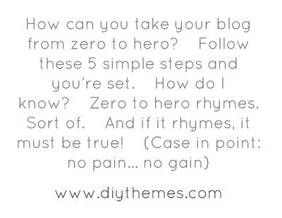 How can you take your blog from zero to hero