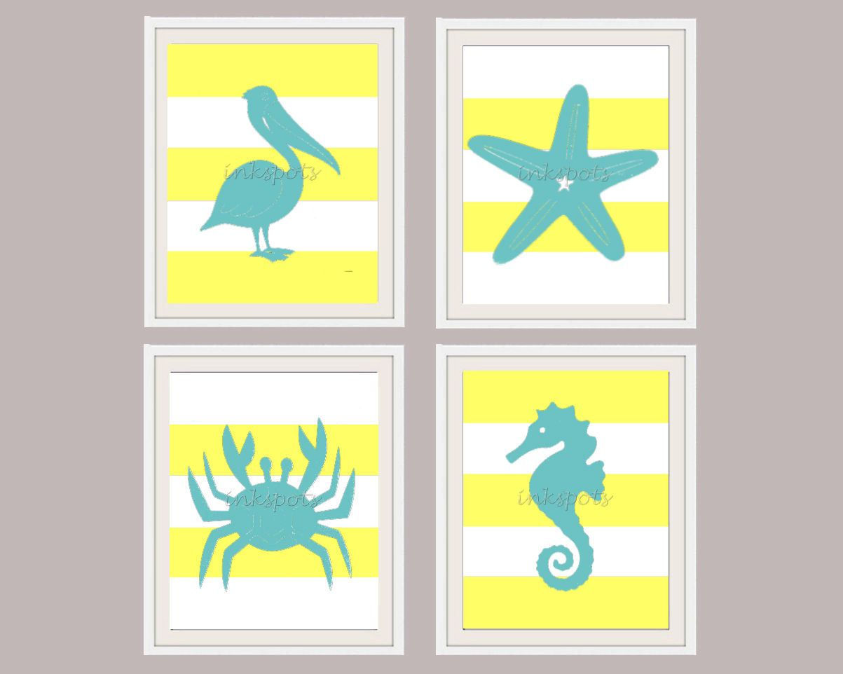 Nautical Nursery Prints - Kids Nautical Prints - Childrens Nautical ...