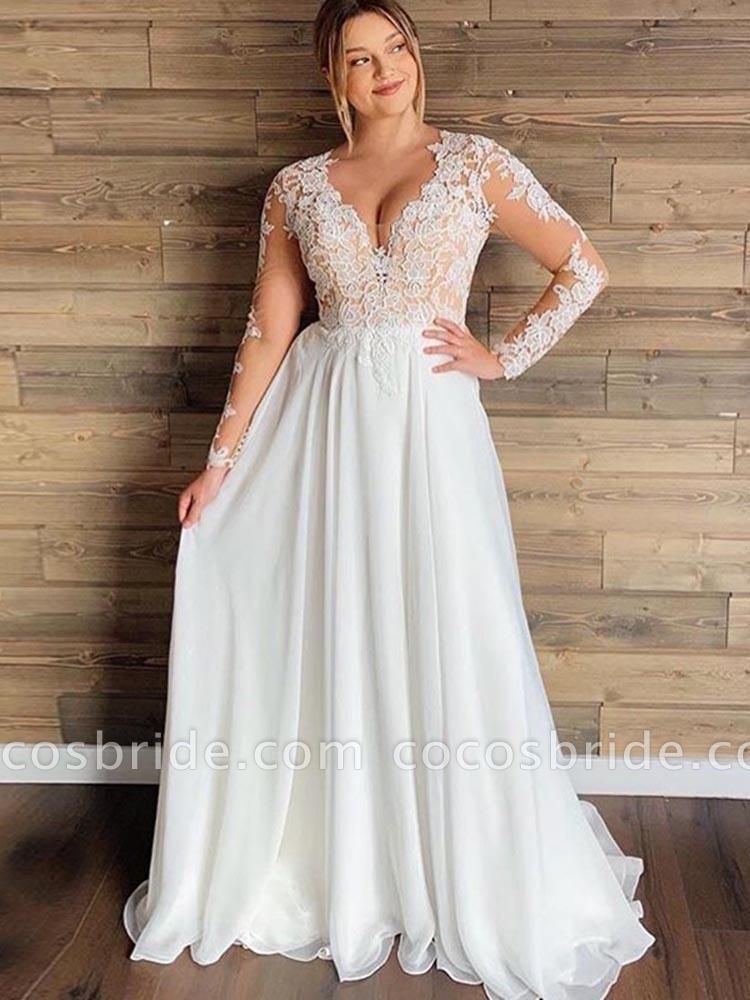 Gorgeous Cheap Plus Size Long Sleeve Wedding Dresses In 2020 Simple Wedding Dress Country Plus Size Bridal Dresses Long Sleeve Wedding Gowns