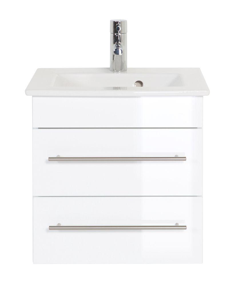 Meuble Sdb Avec Vasque De Villeroy Boch Venticello 50 Cm A 2 Tiroirs Blanc Meuble Sous Vasque Meuble De Salle De Bain Bathroom Vanity