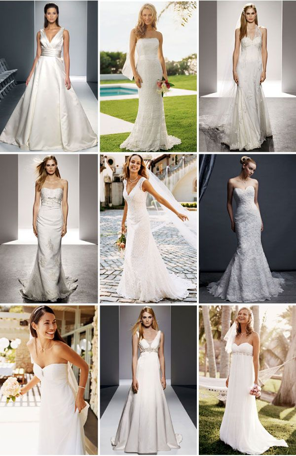 wedding dresses with color | Different Shades of White? Different ...