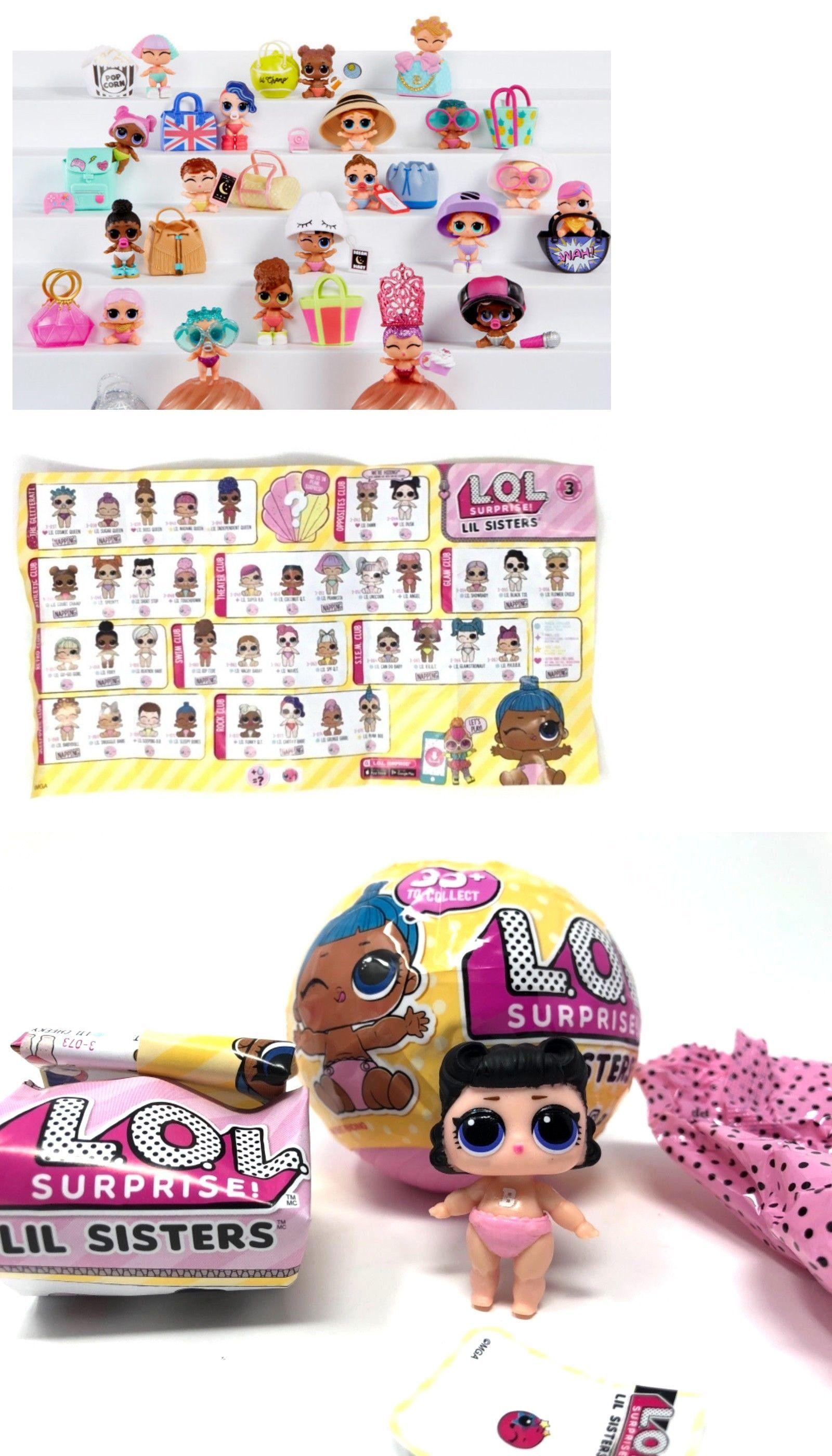 LOT 2 Pcs  LOL Surprise miss baby /& boy L.O.L  LiL Sisters Dolls Toys