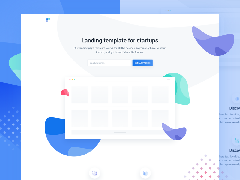 Ava HTML landing page for beta products Landing page