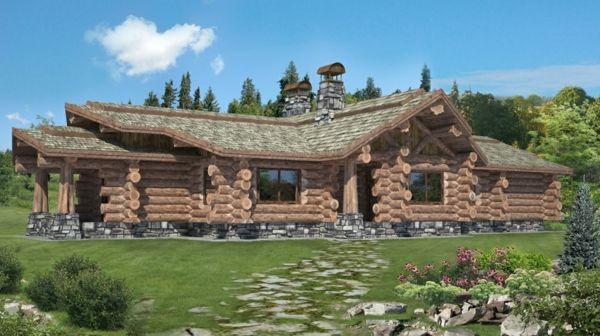 Kanadisches Blockhaus kanadisches blockhaus aus holz gebirge neubau
