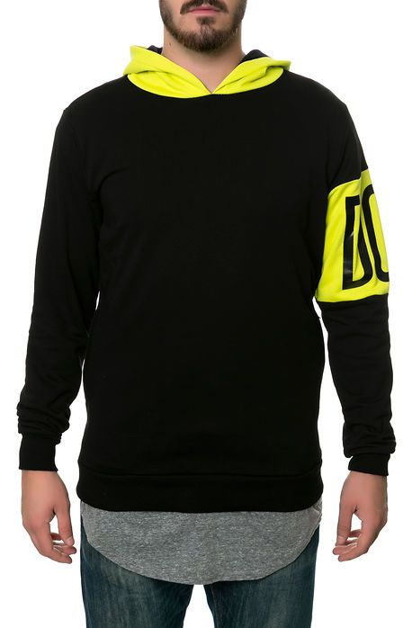 yellow accents on hood and band on left arm Karmaloop Men s Sweaters ... e75a714d9