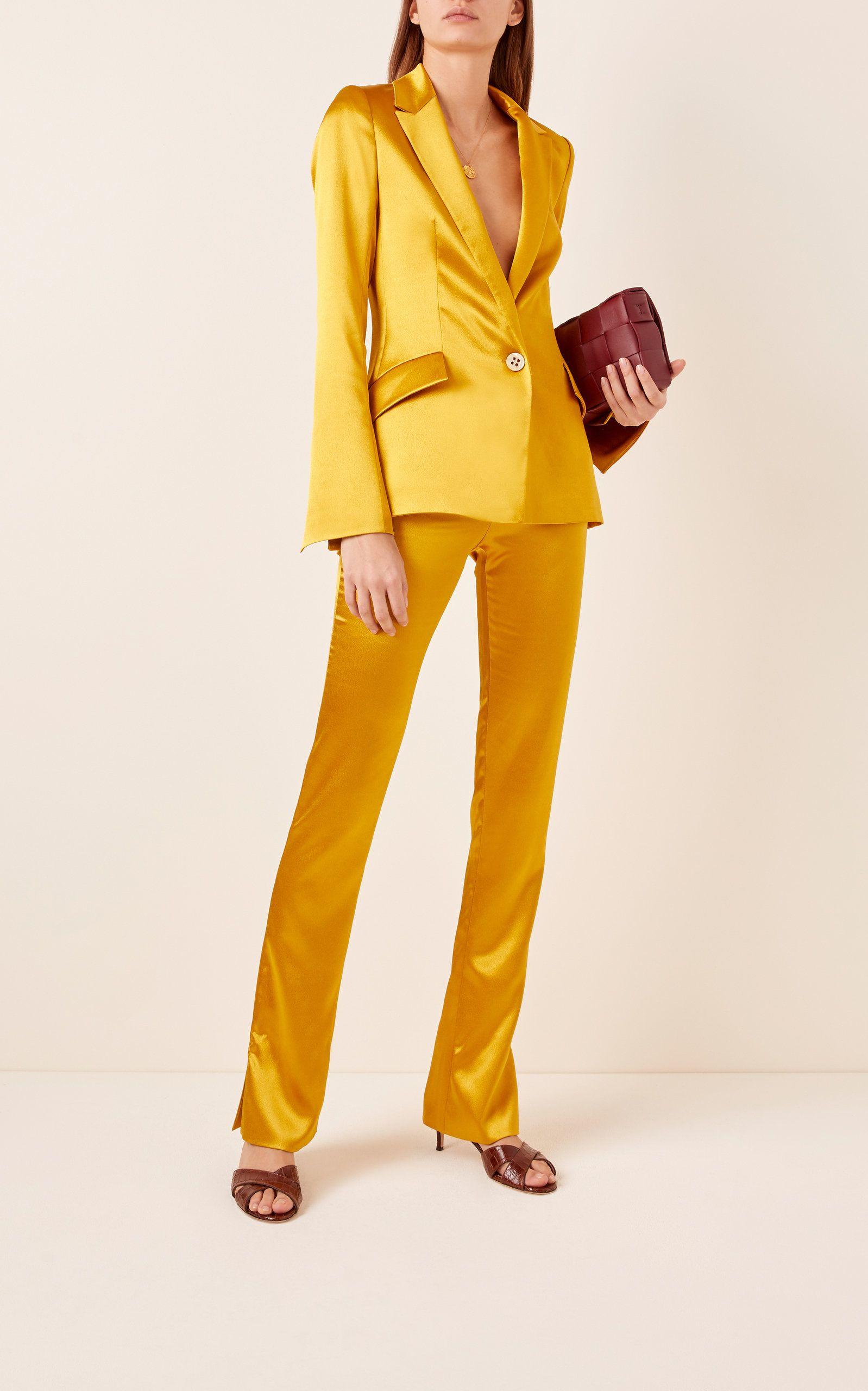 Yellow Colour Pant Suit