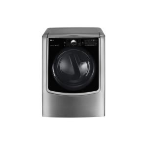 DLGX9001V in Graphite Steel by LG in Farmingdale, NY - 9.0 cu.ft. MEGA Capacity TurboSteam® Gas Dryer w/ On-Door Control Panel