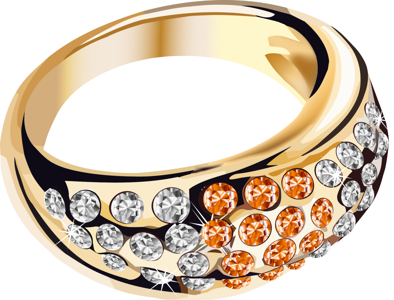Года, открытки золотые кольца