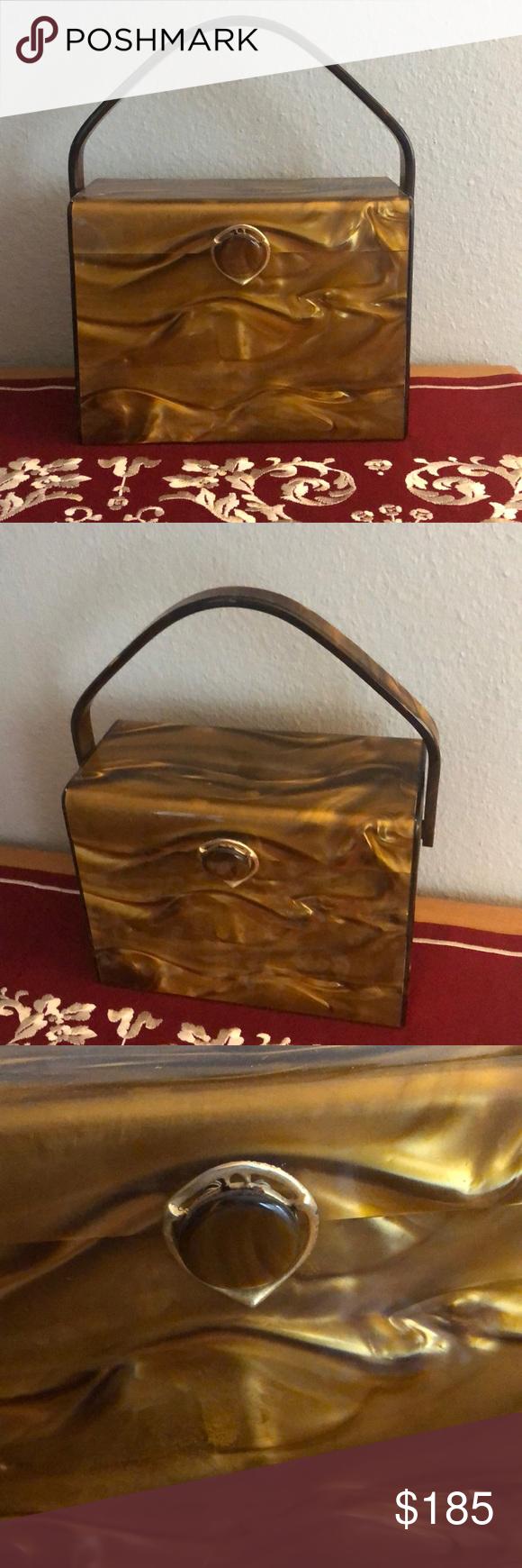 Stylecraft Miami Vintage Lucite Box Purse Vintage lucite