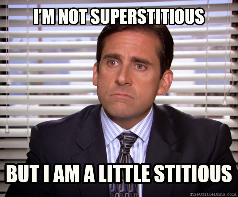 Image result for im not superstitious michael scott
