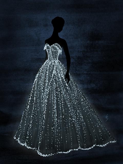 fashion illustrationlydia snowden. claire danes in zac posen