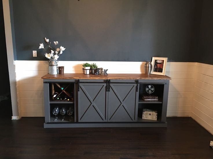 Diy Sliding Door Console Free Plans Furniture And Stuff To Build